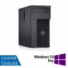 Workstation Dell Precision T1700, Intel Xeon Quad Core E3-1271 V3 3.60GHz - 4.00GHz, 8GB DDR3, 120GB SSD + 1TB SATA, nVidia Quadro K2000/2GB, DVD-RW + Windows 10 Pro