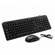 Kit Tastatura + Mouse SPACER SPDS-1691, Qwerty, USB, 18 taste multimedia, 800 dpi, Negru