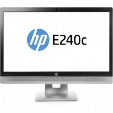 Monitor HP EliteDisplay E240C LED IPS Full HD, 24 Inch, VGA, HDMI, USB, Webcam, Grad B