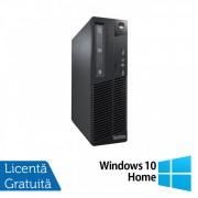 Calculator Lenovo Thinkcentre M73 SFF, Intel Core i7-4770 3.40GHz, 4GB DDR3, 500GB SATA, DVD-ROM + Windows 10 Home
