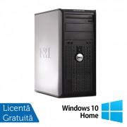 Calculator Dell OptiPlex 380 Tower, Intel Pentium Dual Core E5500 2.80GHz, 2GB DDR3, 250GB SATA, DVD-RW + Windows 10 Home