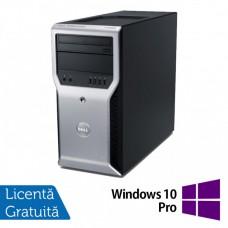 Workstation Dell Precision T1600, Intel Xeon Quad Core E3-1245 3.30GHz - 3.70GHz, 8GB DDR3, 500GB HDD,  Intel Integrated HD P3000, DVD-RW + Windows 10 Pro