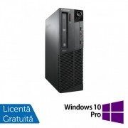 Calculator LENOVO Thinkcentre M91P SFF, Intel Pentium G630 2.70GHz, 4GB DDR3, 250GB SATA, DVD-ROM + Windows 10 Pro