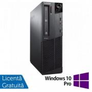 Calculator Lenovo Thinkcentre M83 SFF, Intel Pentium G3220 3.00GHz, 4GB DDR3, 500GB SATA, DVD-ROM + Windows 10 Pro