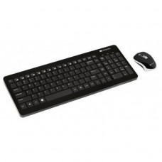 Kit Tastatura + Mouse Wireless Canyon CNS-HSETW3-US, Negru