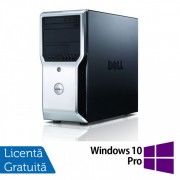 Workstation Dell Precision T1500, Intel Quad Core i7-870 2.93GHz - 3.60GHz, 8GB DDR3, 500GB HDD, AMD FirePro V3900 1GB, DVD-RW + Windows 10 Pro