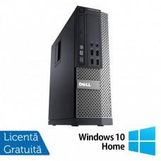 Calculator DELL 3020 SFF, Intel Core i3-4130 3.40 GHz, 4GB DDR3, 500GB SATA, DVD-RW + Windows 10 Home