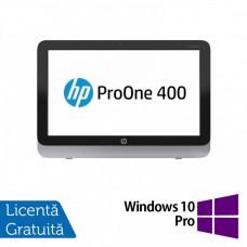 Calculator All In One HP Pro One 400 G1, 19.5 Inch 1600 x 900, Intel Core i3-4150T 3.00GHz, 4GB DDR3, 500GB SATA, DVD-RW + Windows 10 Pro