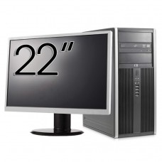 Pachet Calculator HP 8200 Tower, Intel Core i5-2400 3.10GHz, 8GB DDR3, 500GB SATA, GeForce GT210 512MB DDR3, DVD-ROM + Monitor 22 Inch (Top Sale!)