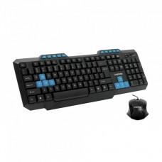Kit Tastatura + Mouse cu fir LogiStep LSDK-5181, USB, negru