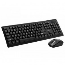Kit Wireless Tastatura + Mouse  Combo, SPACER SPDS-1100, Plug&Play, Qwerty, USB, 1000 dpi, Negru