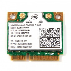 Modul Intel Centrino Advanced-N 6235 6235ANHMW, Wlan, Bluetooth 4.0, Half MINI Card, 802.11 a/b/g/n, Dual-band, 300 Mbps