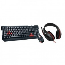 Kit Genius Gaming USB, Wired, 3 in 1 gaming kit, Tastatura + Mouse 1000 DPI + Casti, KMH-200