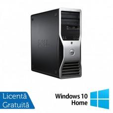 Workstation Dell Precision T3500, Xeon Quad Core W3520 2.66GHz - 2.93GHz, 6GB DDR3, HDD 500GB SATA, DVD-ROM, AMD Radeon HD 7350 1GB GDDR3 + Windows 10 Home