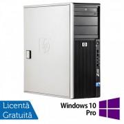 WorkStation HP Z400, Intel Xeon Quad Core W3520 2.66GHz-2.93GHz, 8GB DDR3, 500GB SATA, Placa Video nVidia GT640/1GB, DVD-RW + Windows 10 Pro